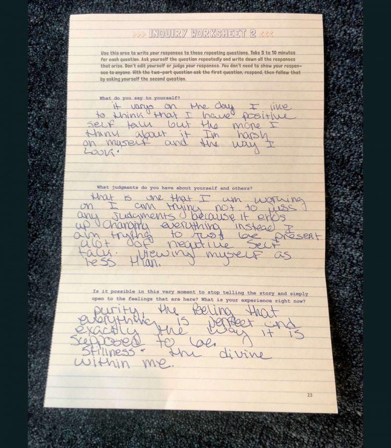 Prisoner Inquiry Worksheet