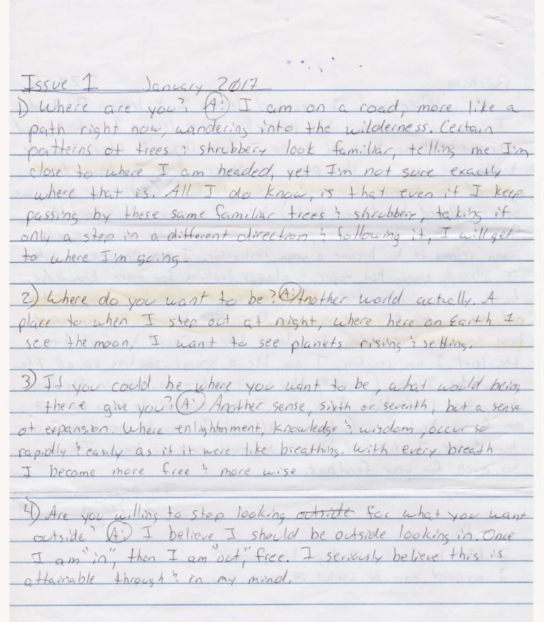 Inquiry Questions from a Prisoner