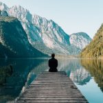 Inner Critic - Man on Dock with Mountain Lake