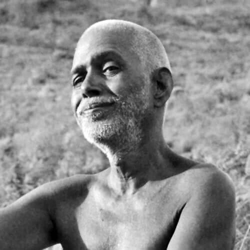 Gangaji lineage Ramana Maharshi smiling black and white