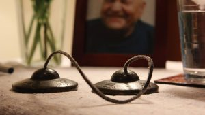 tibetan bells on table