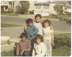 kids on street 1976