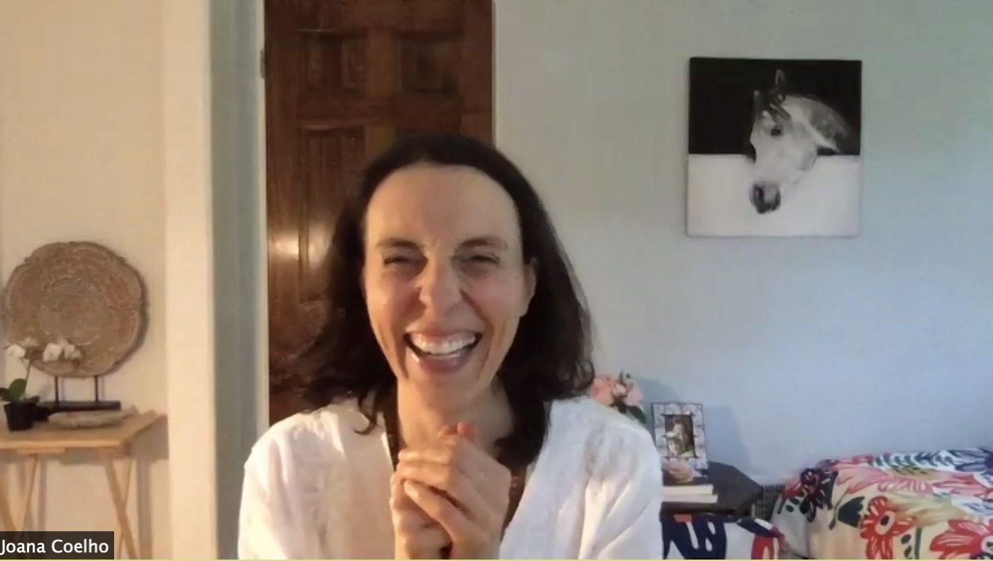 Joanna smiling