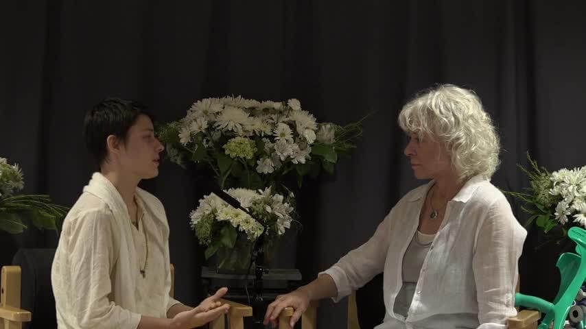 Video- Gangaji and woman green crutches
